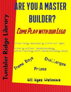 Lego club poster January 2015