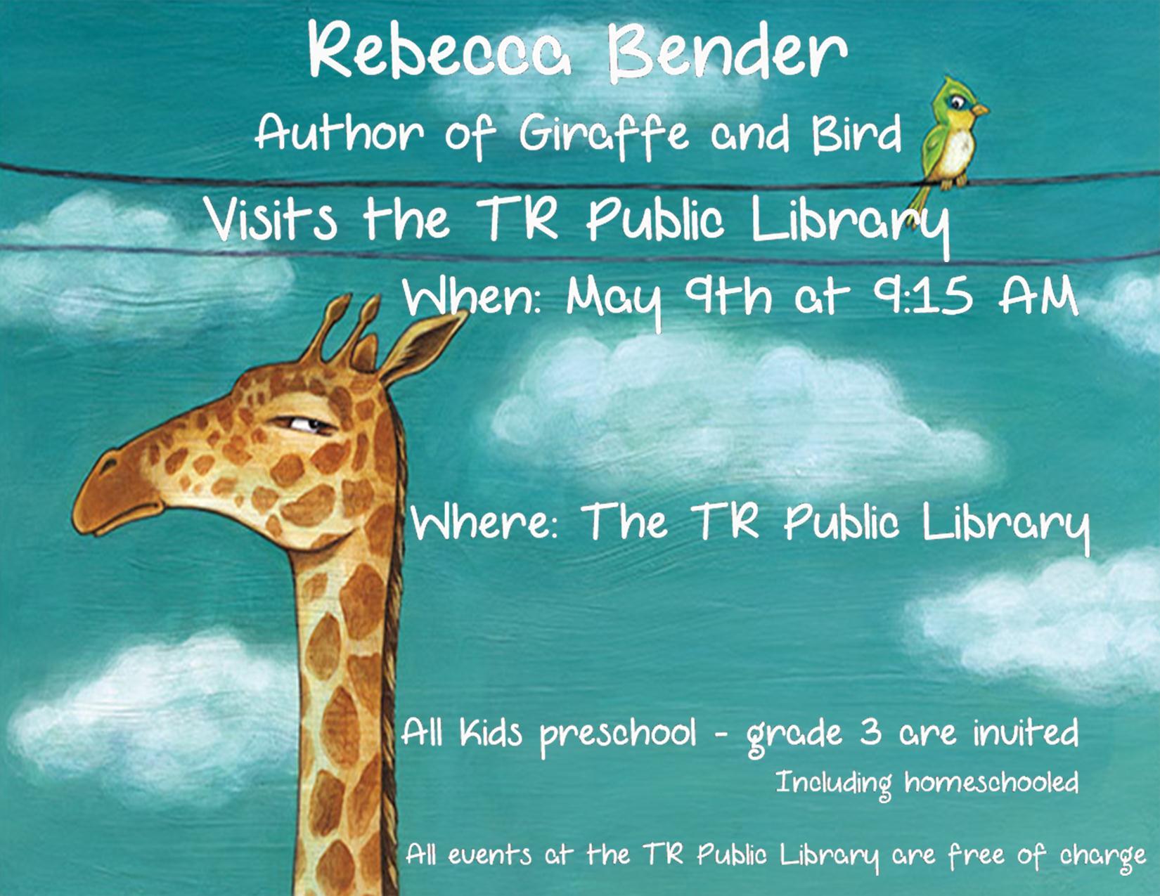 Rebecca Bender Author Visit