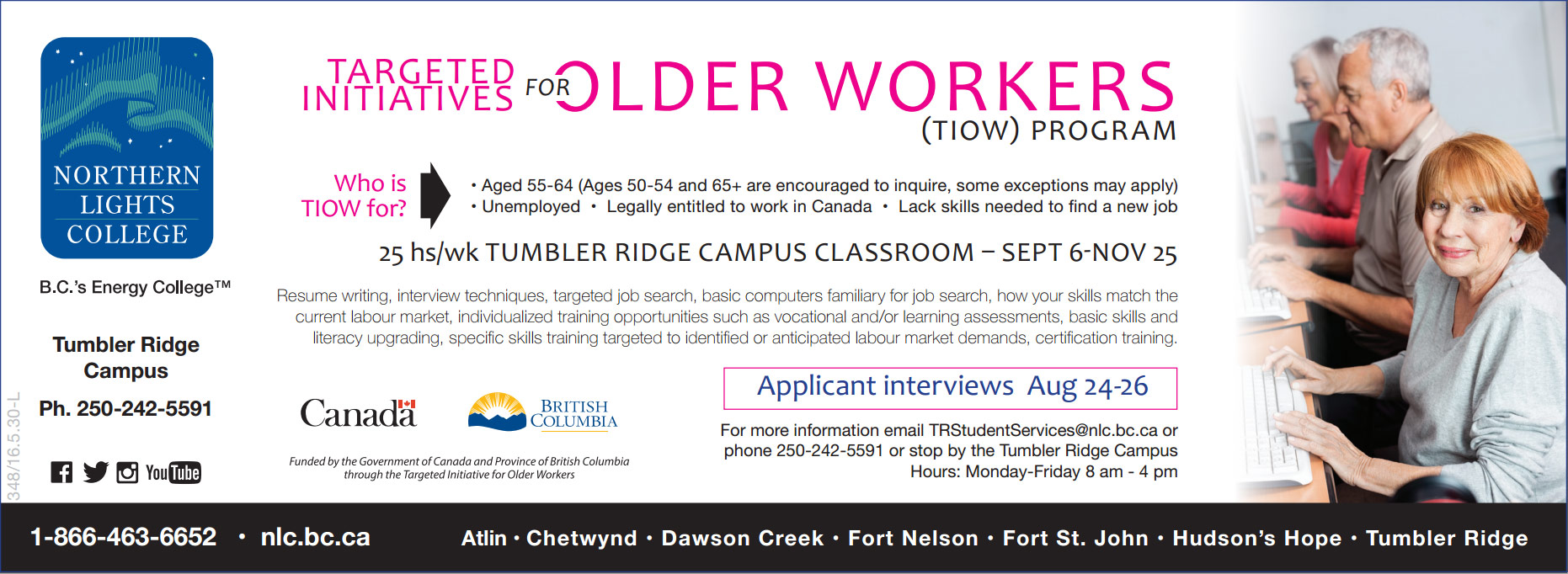 targeted initiatives for older workers nlc tumbler ridge targeted initiatives for older workers